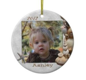 ceramic christmas ornament with photo template