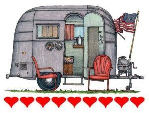 camping trailer art