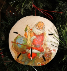 sand dollar christmas ornament
