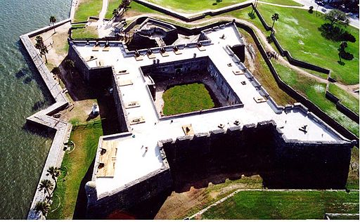 the Castillo de San Marcos fort