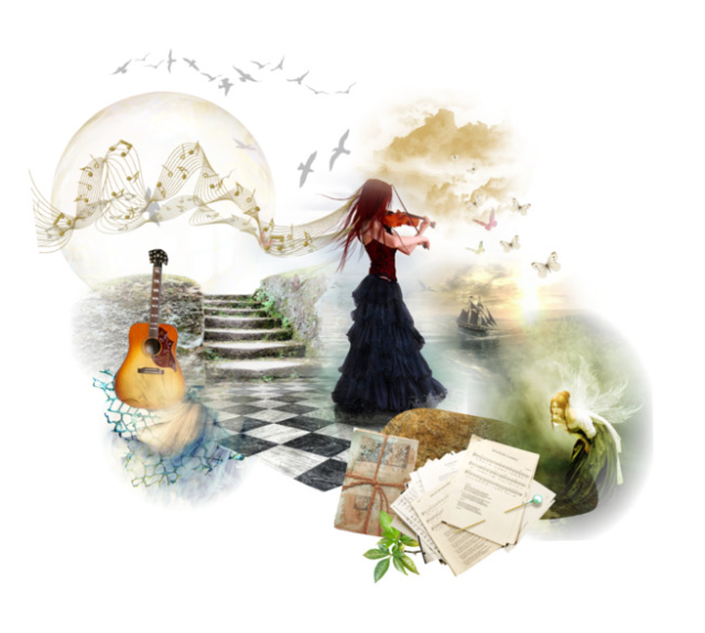 whimsical polyvore collage