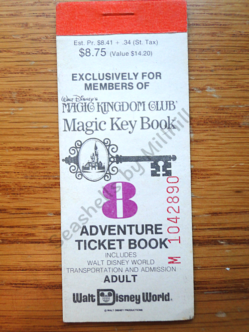 Old Vintage Disney World Ticket Book