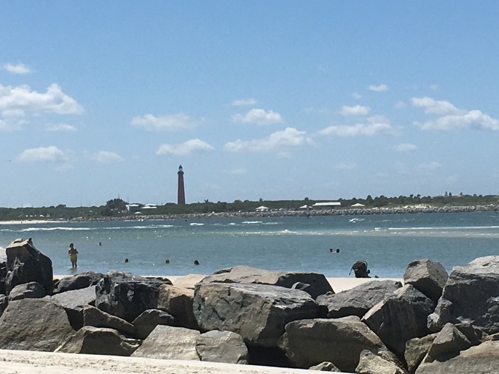 Ponce Inlet lighthouse jetty