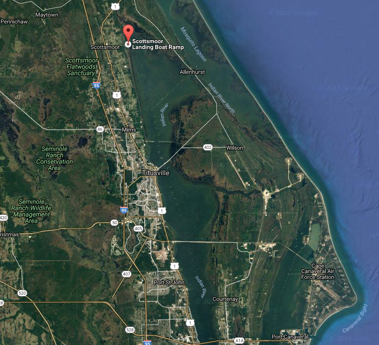 map of mosquito lagoon area