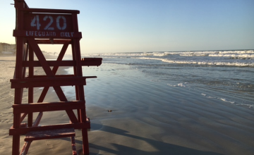 Life guard chair on beach