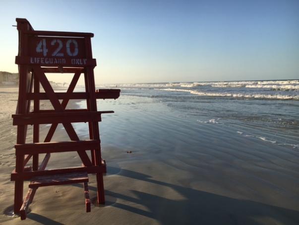 Life guard chair on beach
