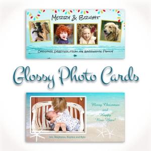 beach christmas photo cards