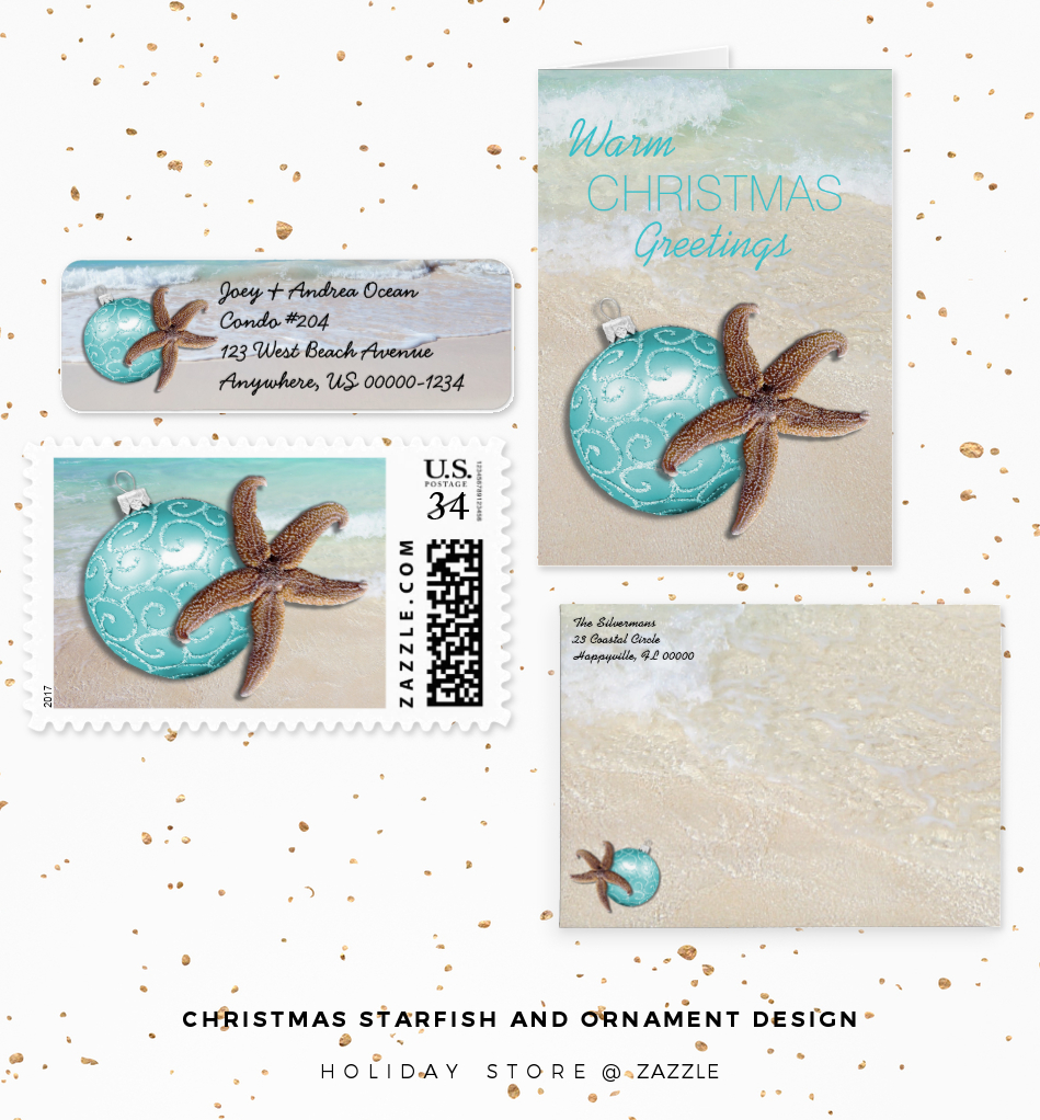 starfish and ornaments design