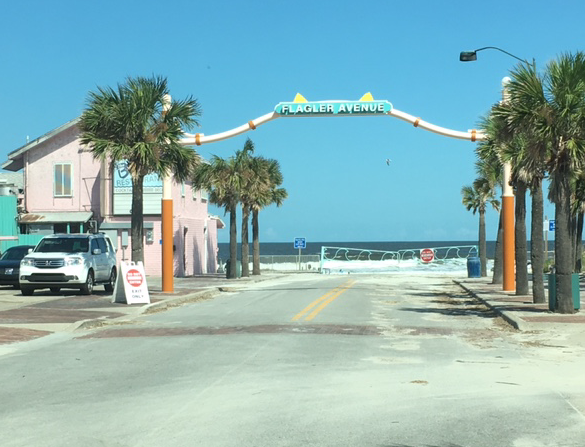end of Flagler Ave at the beach
