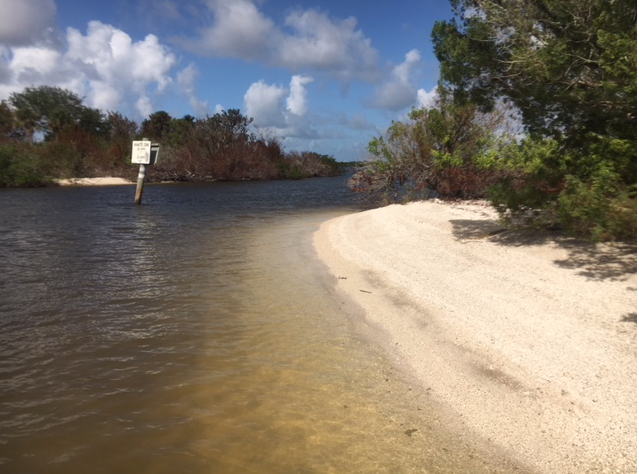 beach on ICW river