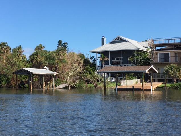 damage to docks done by hurricane irma