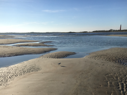 Low tide at the inlet