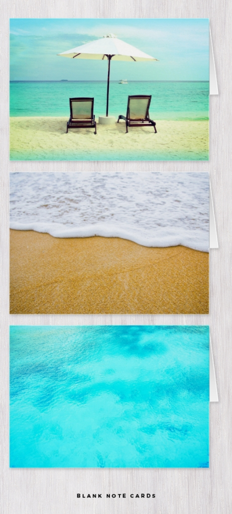 beach note cards