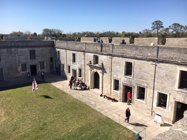 inside the Castillo de San Marcos fort