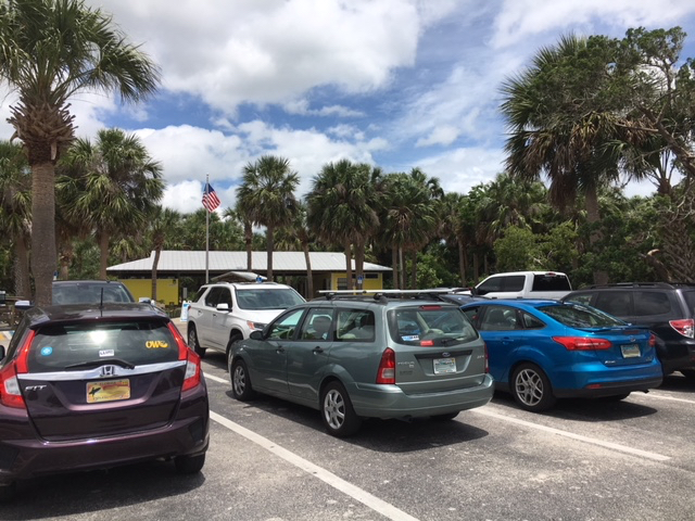 parking lot at Smyrna Dunes Park