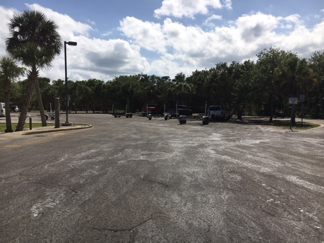 Riverbreeze boat launch parking lot