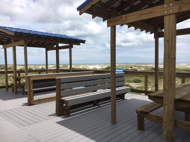 pavilion with double picnic tables