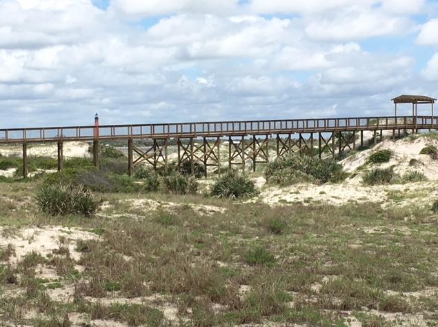 walkway to jetty and beach