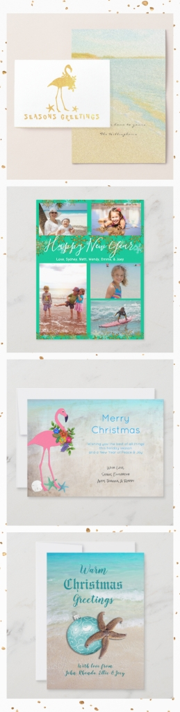 custom tropical Christmas cards