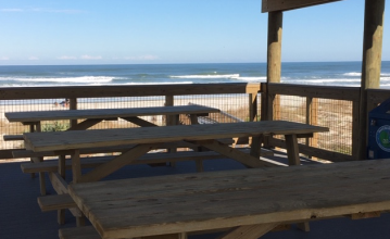 ocean view from the two story pavilion