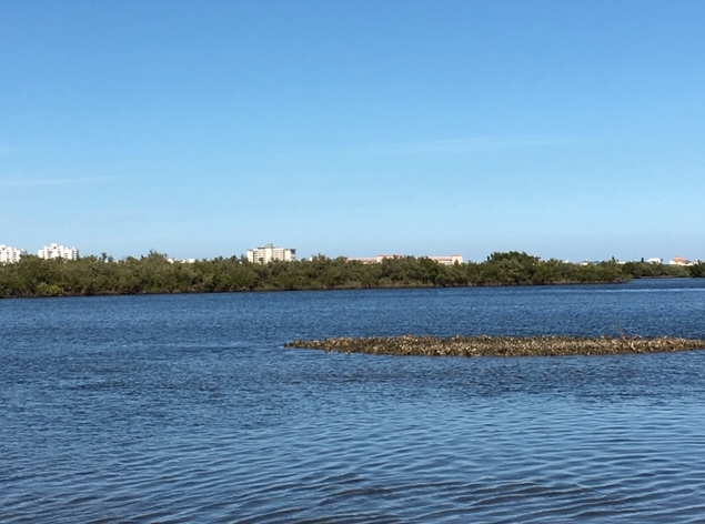 Oyster Bay and view of beachside condominiums