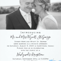 Designer Beach Wedding Stationery