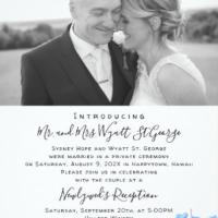 Designer Beach Wedding Stationery