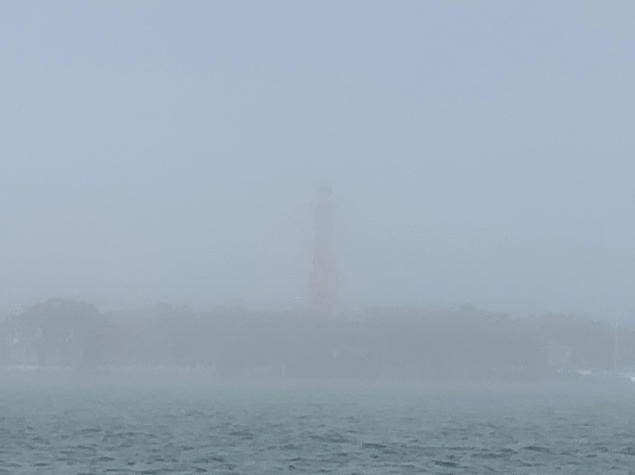 Ponce Lighthouse through the fog
