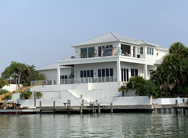 big house on the water