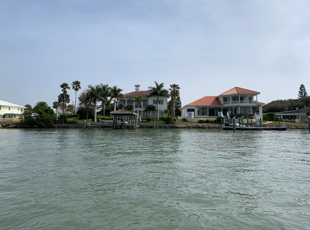 big houses on the Intracoastal