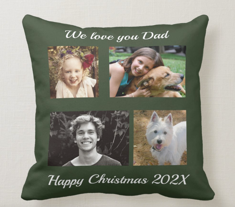 photo pillow gift for dad