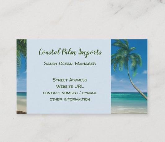 Coastal business cards