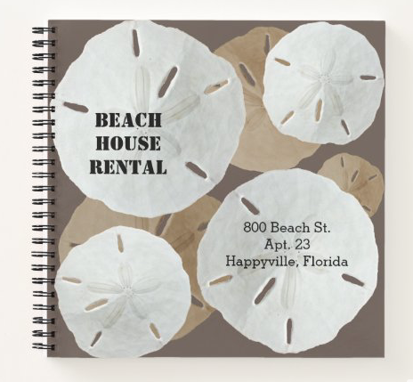 Sand dollars spiral bound notebook