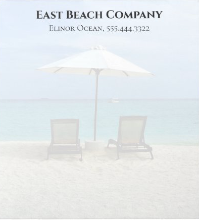 Beach chairs and umbrella stationery letterhead business paper