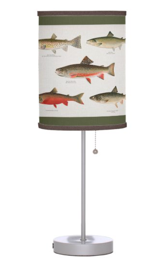 Trout fish table lamp