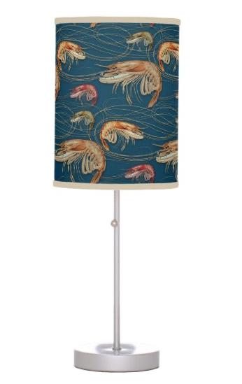 Shrimp dark blue table lamp