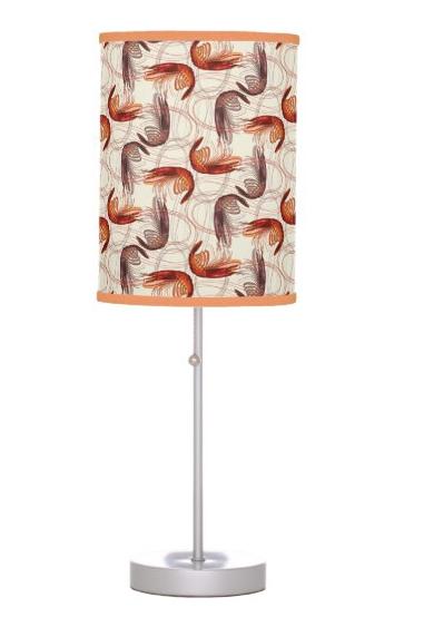 Shrimp pattern table lamp