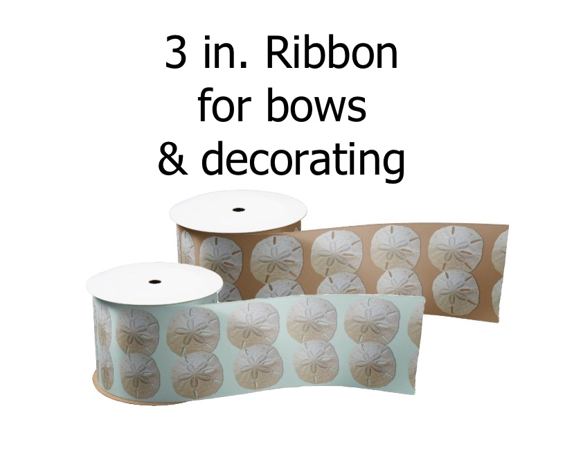 Sand dollars wide ribbon crafts bows