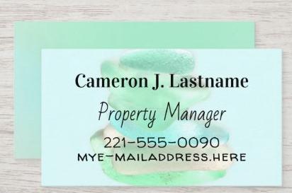Sea glass business card template