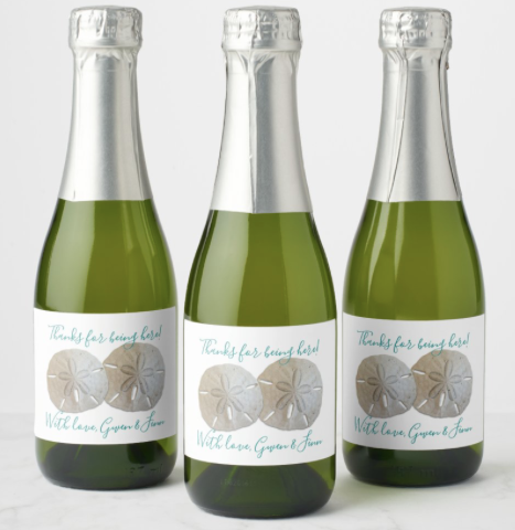Wedding wine or champagne custom labels